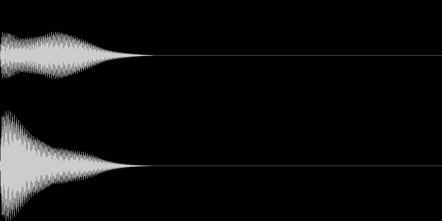 ボン(click_ボタンシンプル)の未再生の波形