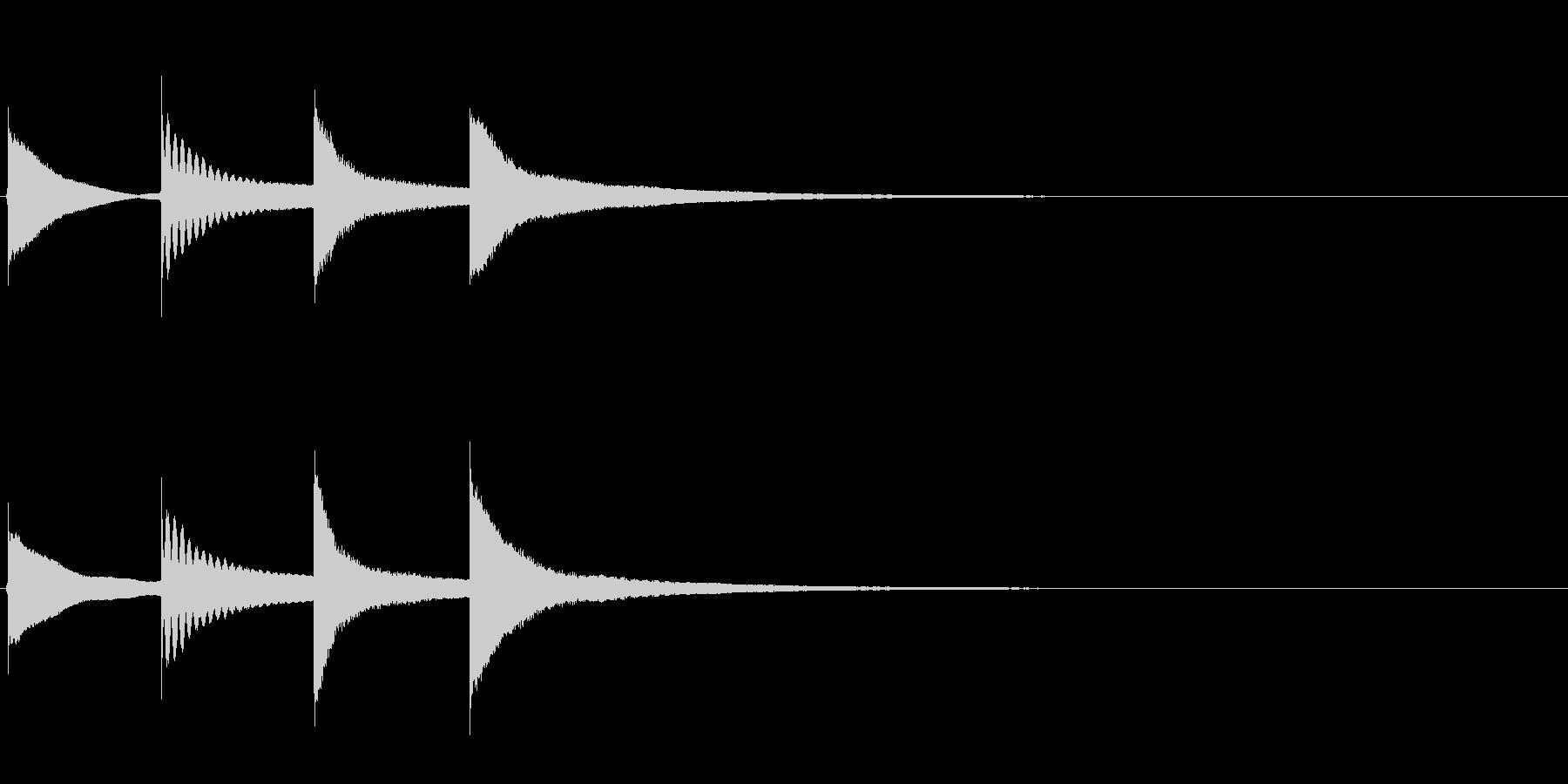 【チャイム アナウンス01-down1】の未再生の波形