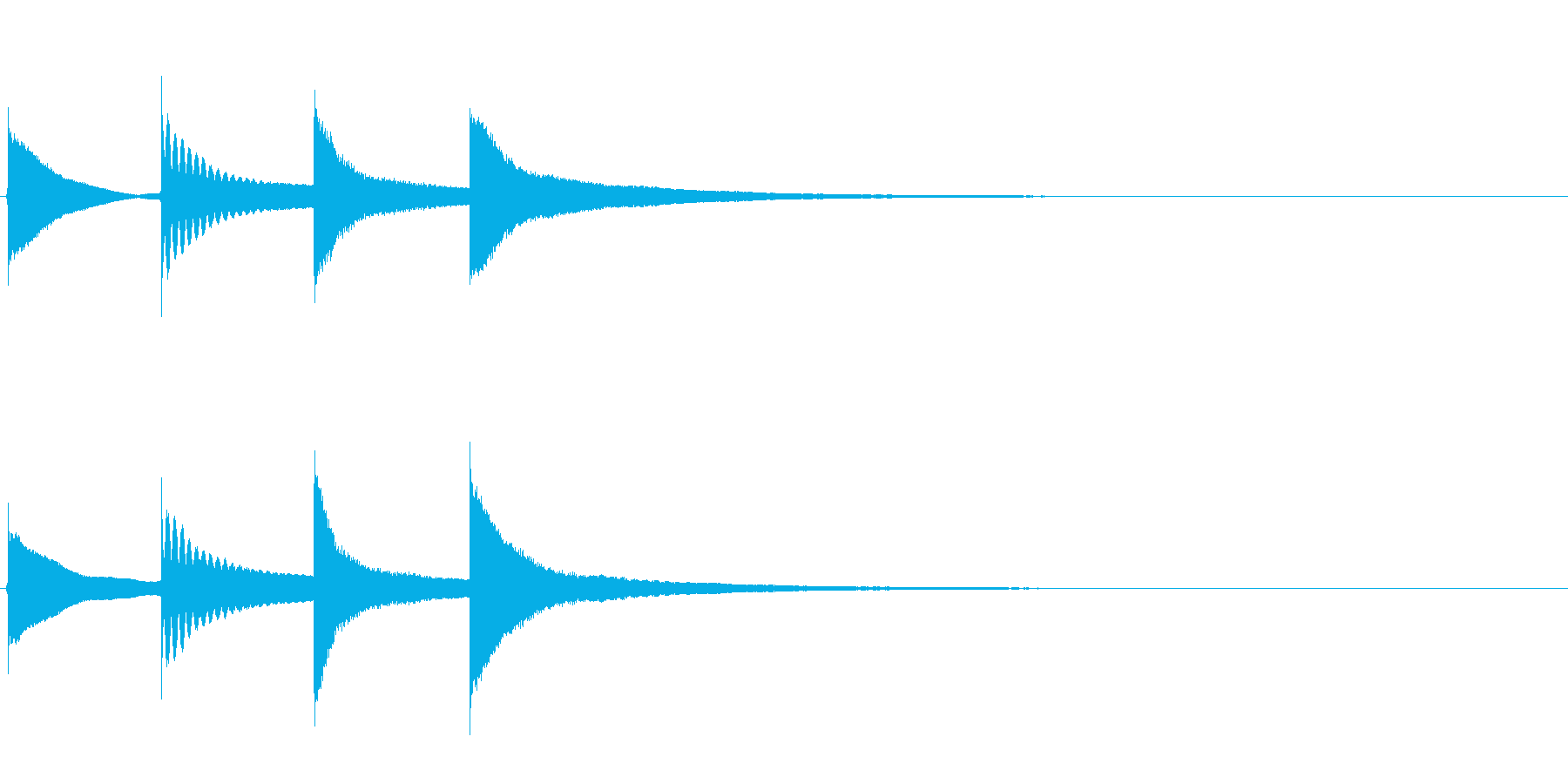 【チャイム アナウンス01-down1】の再生済みの波形