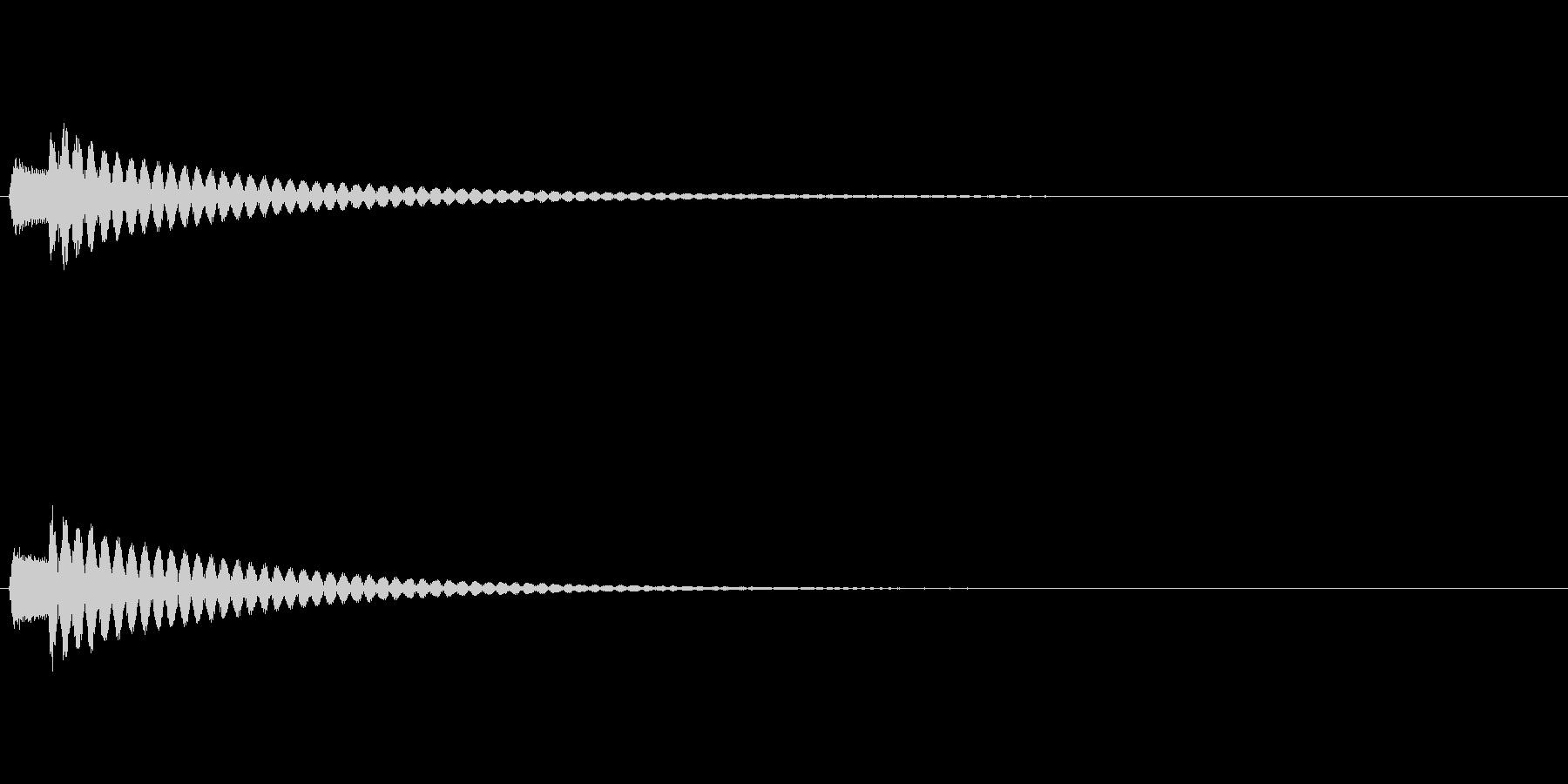 決定 シンセ04の未再生の波形
