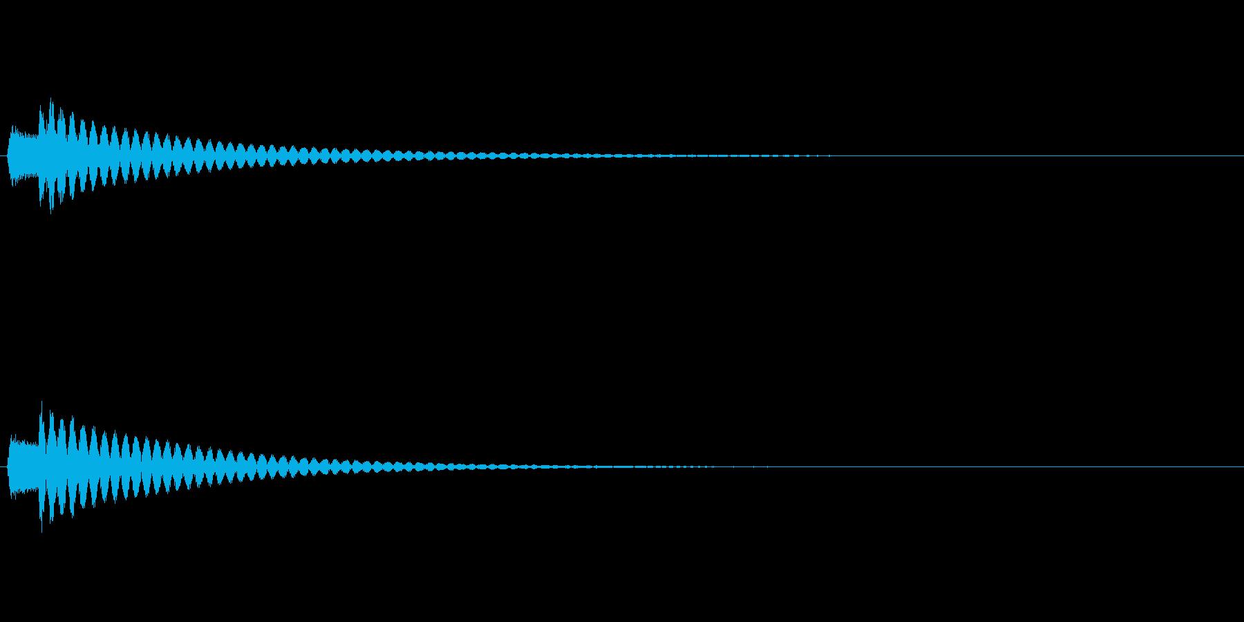 決定 シンセ04の再生済みの波形