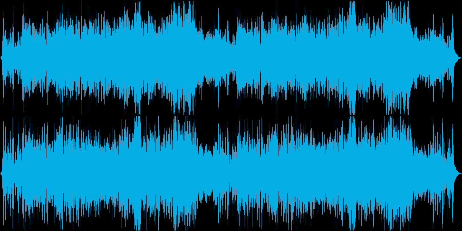勇壮なオーケストラの行進曲の再生済みの波形