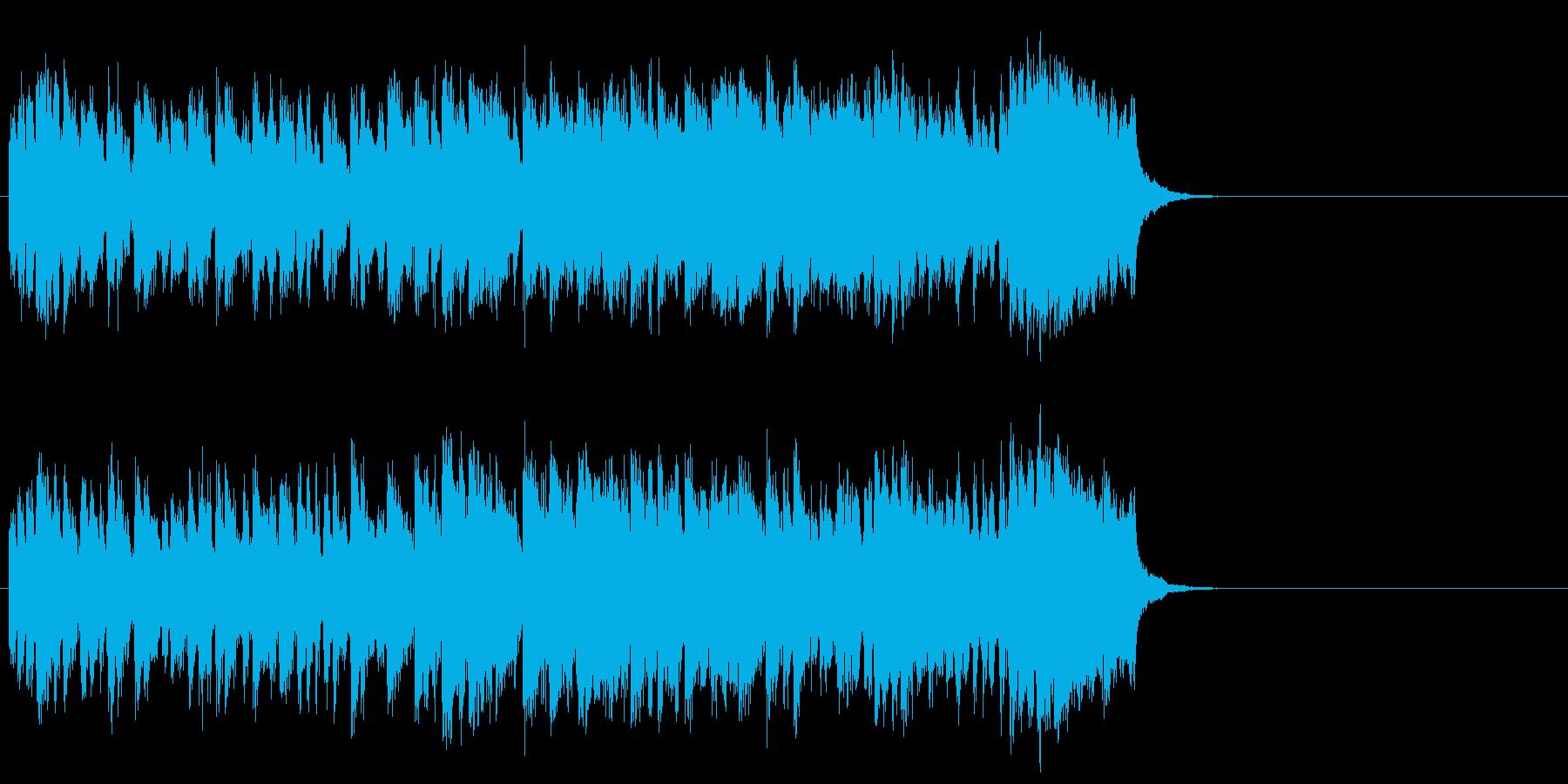情報向けの軽快なポップス(イントロ)の再生済みの波形