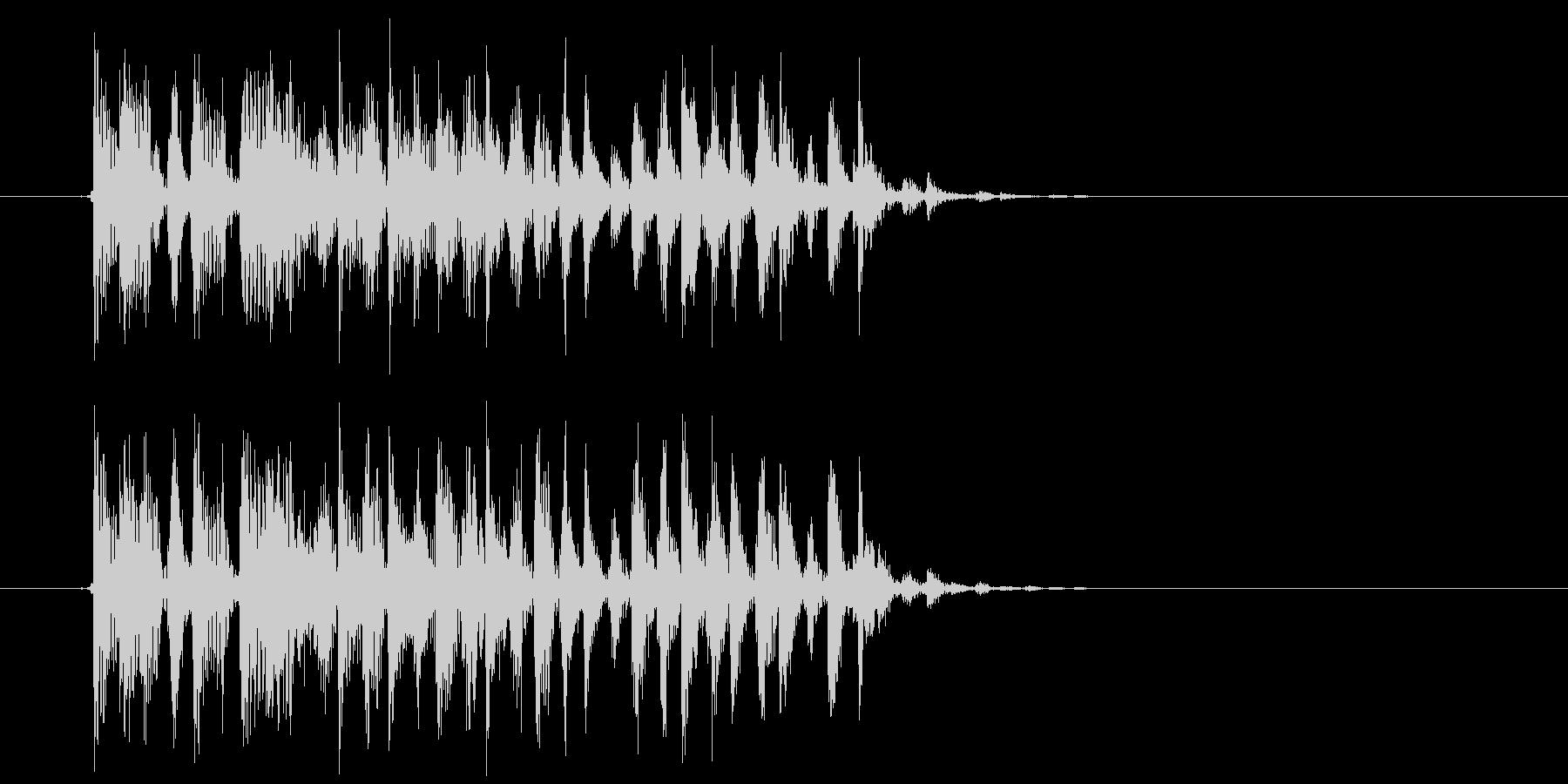 テクニカルでリズミカルなテクノジングルの未再生の波形