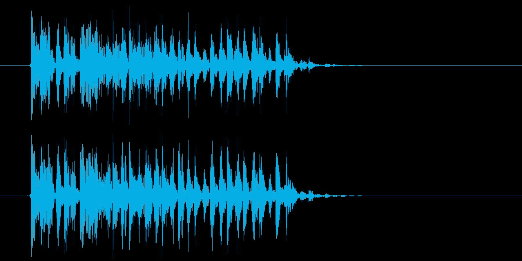 テクニカルでリズミカルなテクノジングルの再生済みの波形