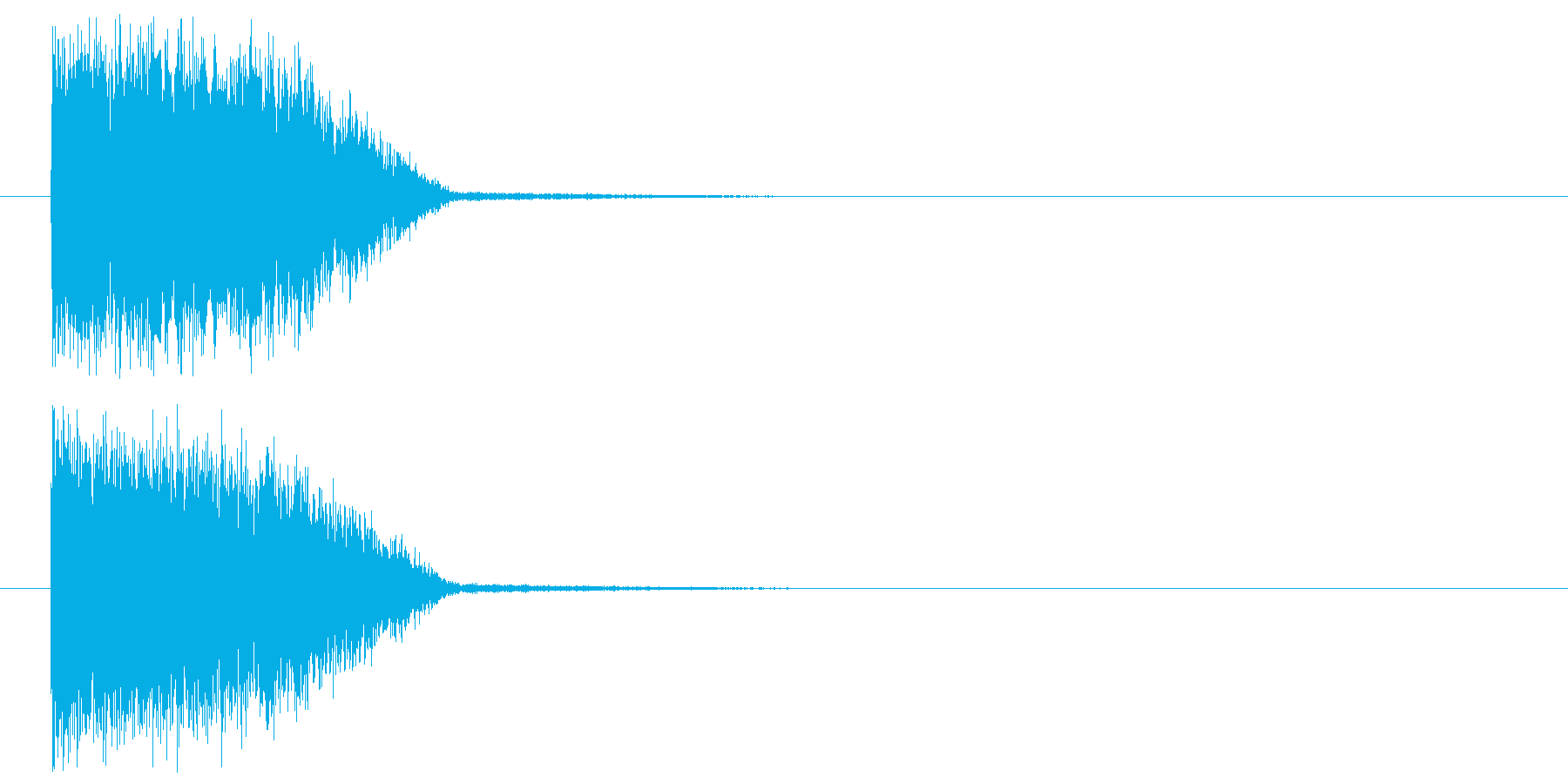 ショック_ダメージの再生済みの波形