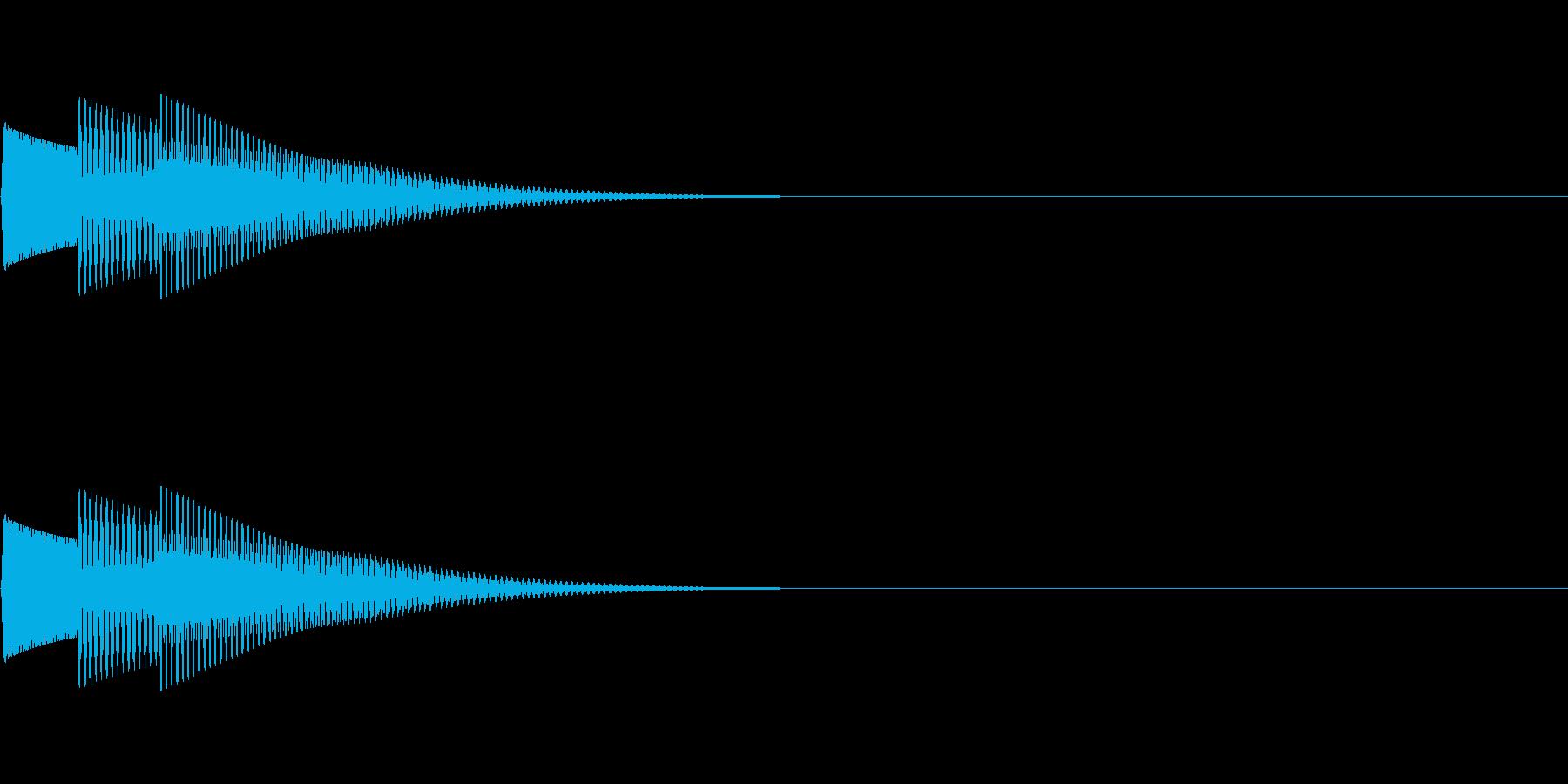 ピコーン(ワンポイント_アルペジオ)の再生済みの波形