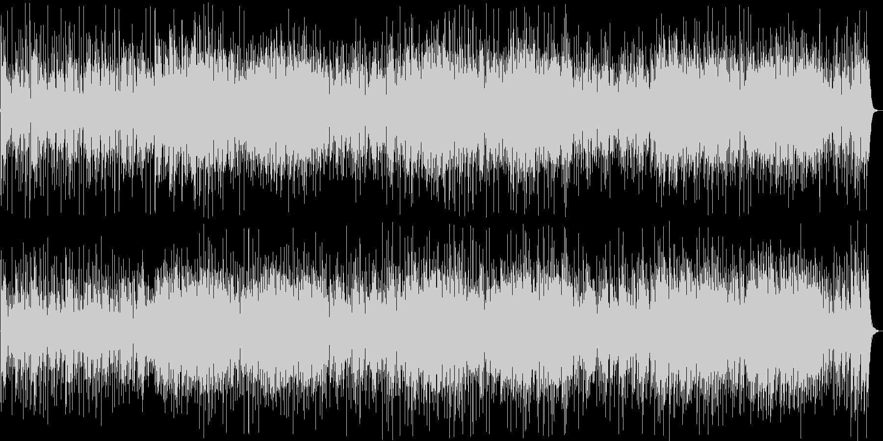 明るい印象のギター・シンセなどのサウンドの未再生の波形