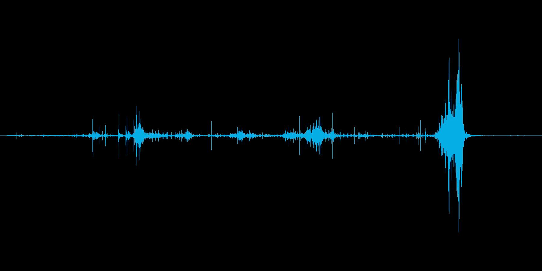 ダンボールを破る音。ビリッの再生済みの波形