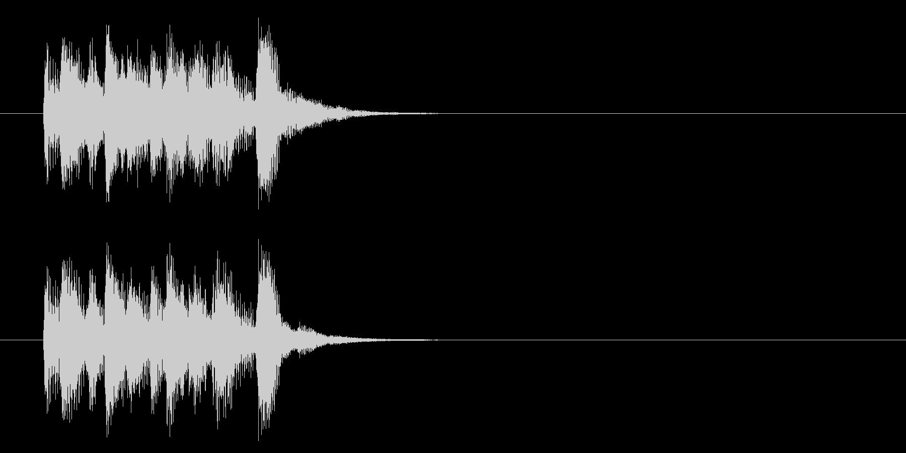 コーナー・エンド風ポップスのジングルの未再生の波形