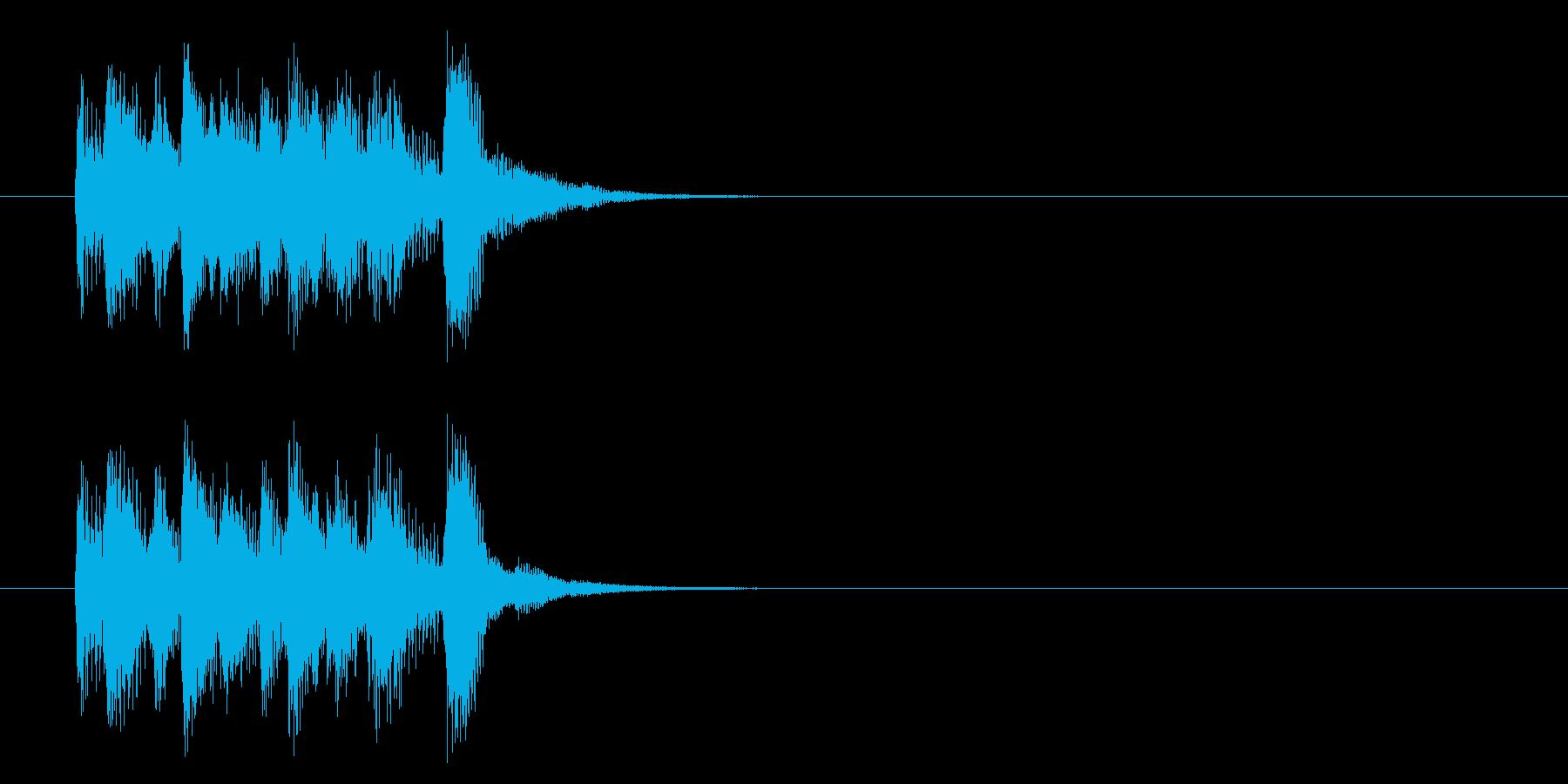 コーナー・エンド風ポップスのジングルの再生済みの波形