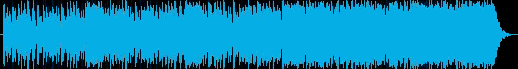 ゲームなどの幻想的なシーンにあうハープの再生済みの波形