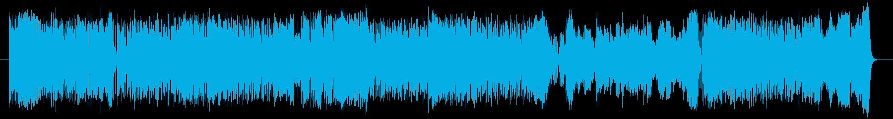 ミディアムテンポの4ビート楽曲と行進曲…の再生済みの波形