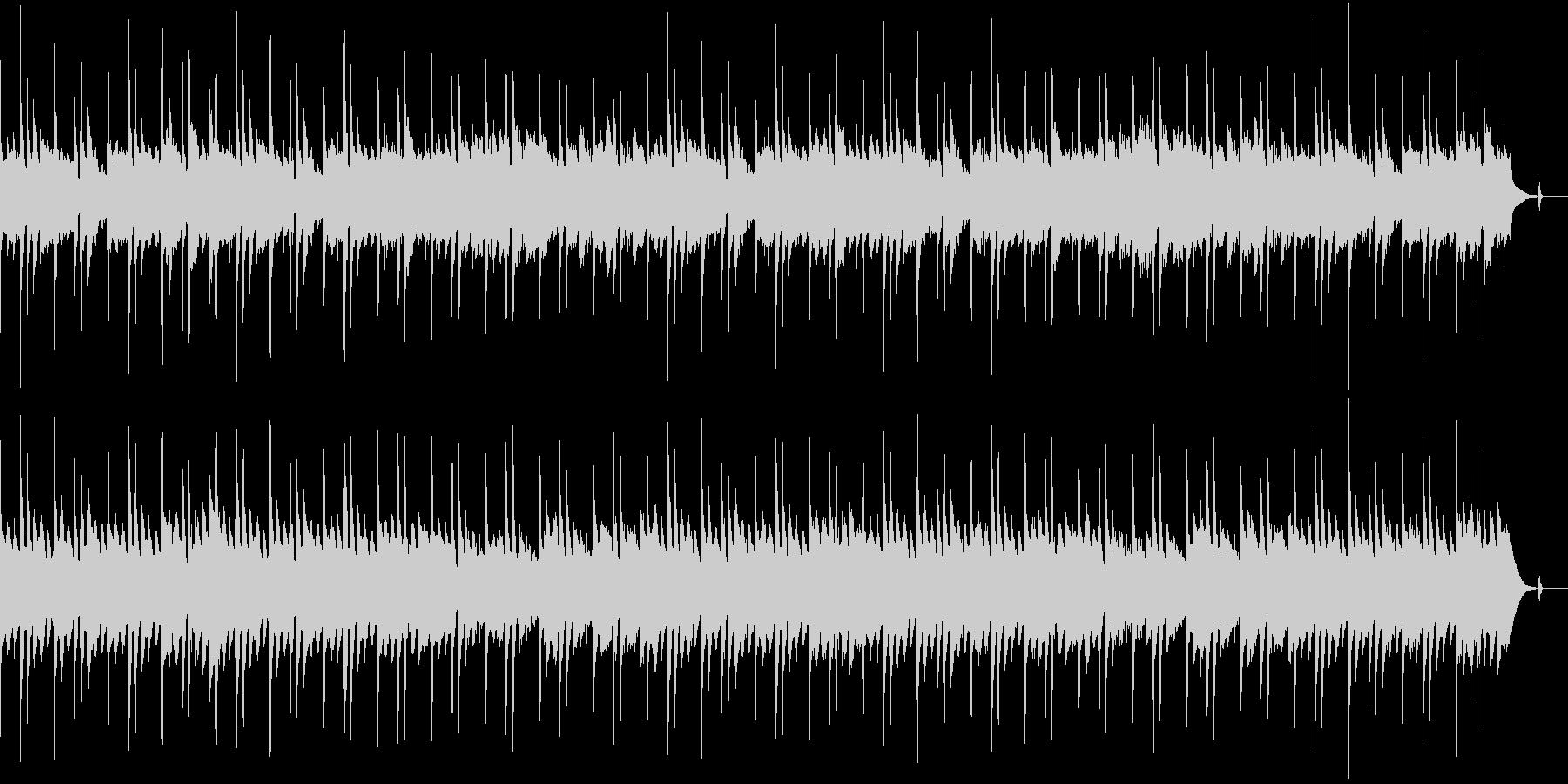 穏やかで抑制的なピアノ・アルペジオの未再生の波形