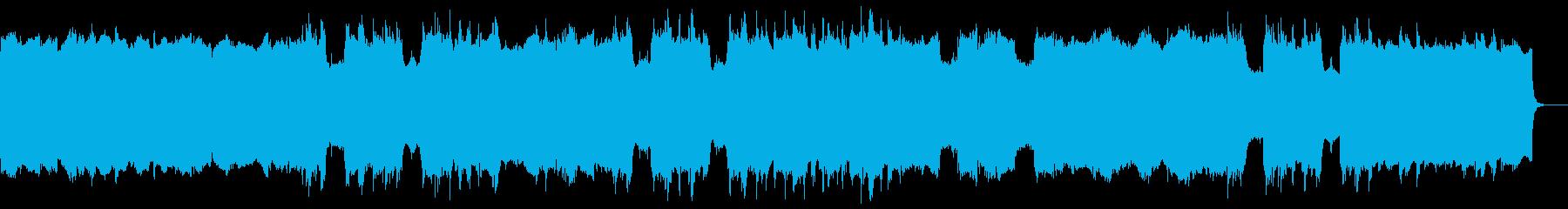 リバース音のアンビエントの再生済みの波形