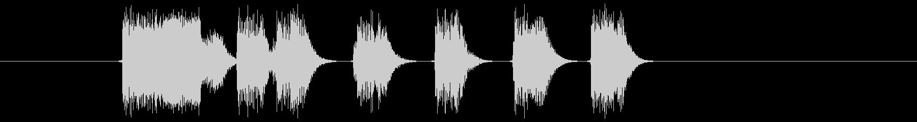 ゲームオーバーに最適なエレピ音の未再生の波形