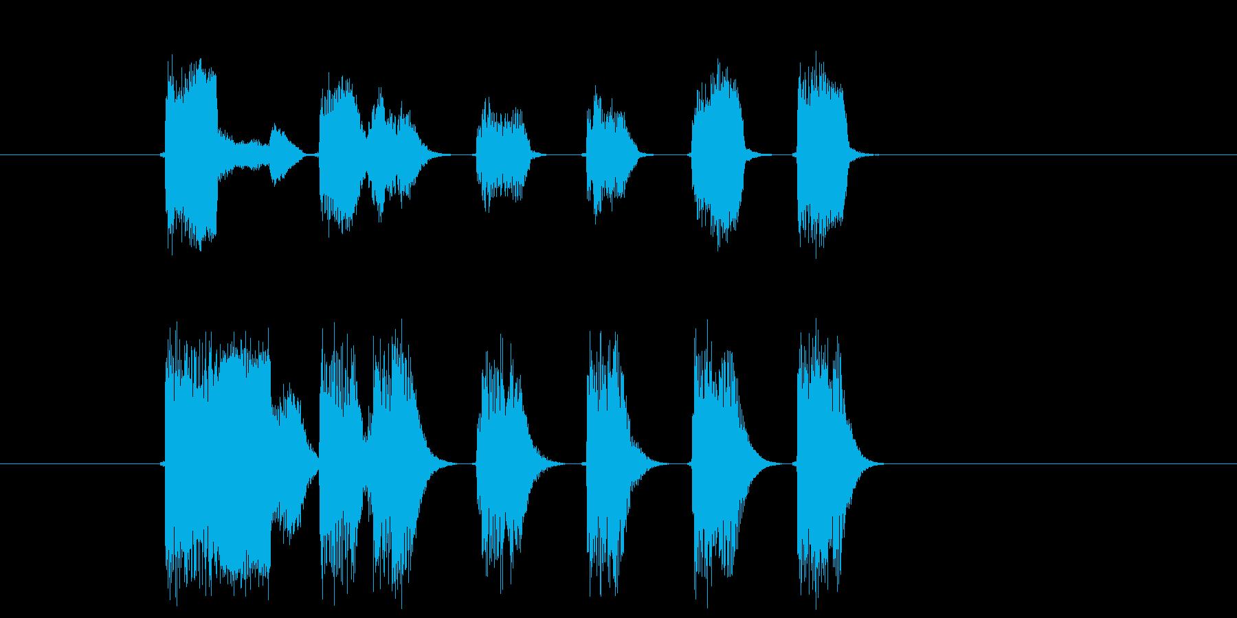 ゲームオーバーに最適なエレピ音の再生済みの波形
