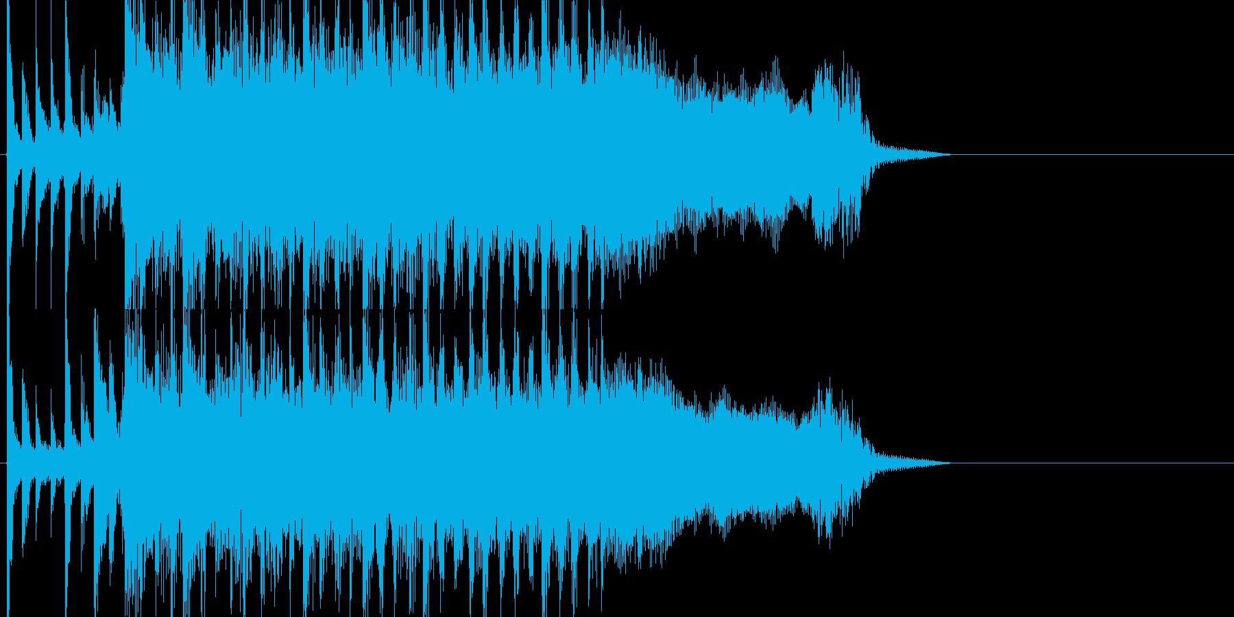 がむしゃらに頑張るパワフルロックジングルの再生済みの波形