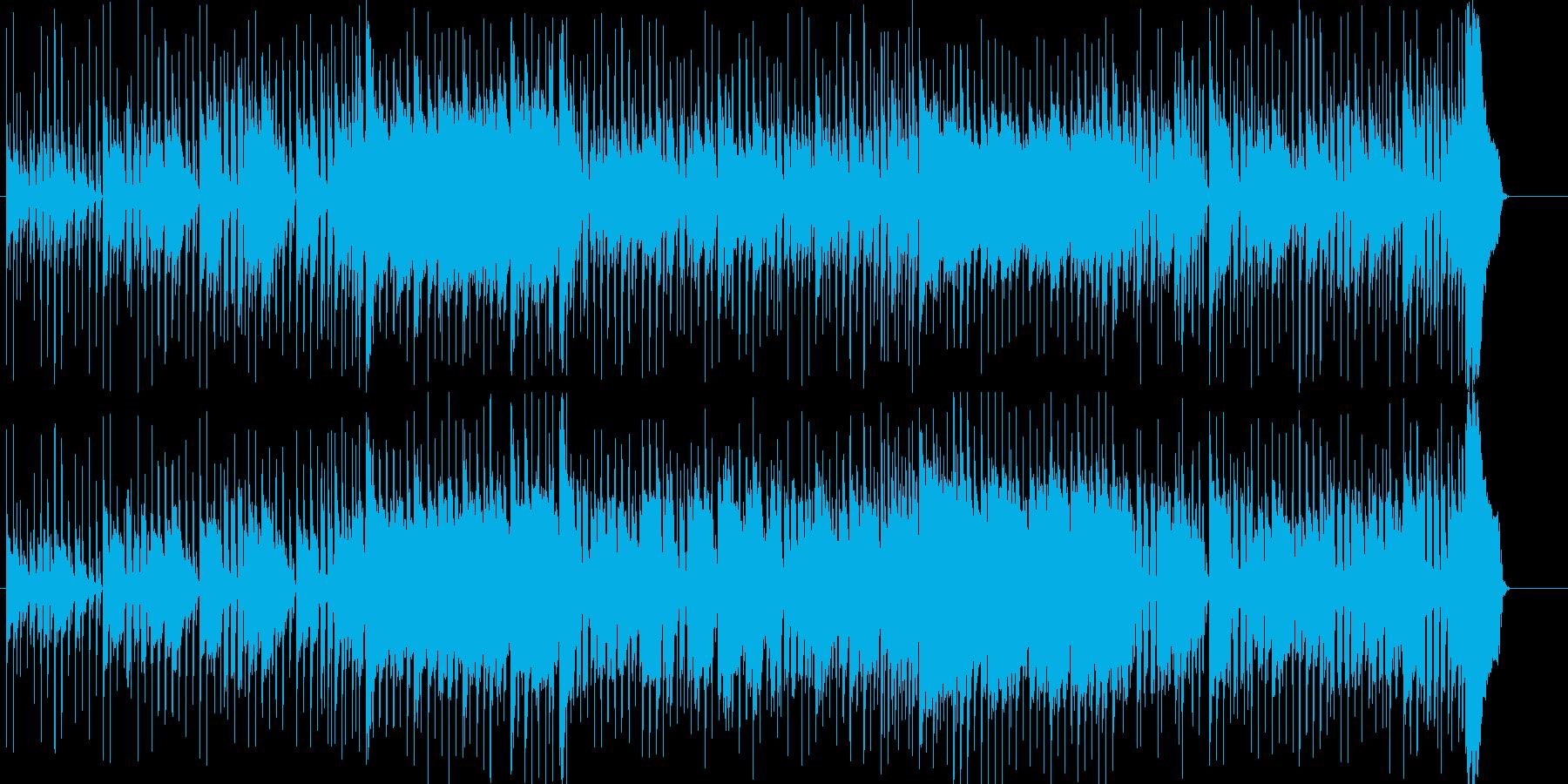 ややコミカルでゆったりしたギターロックの再生済みの波形
