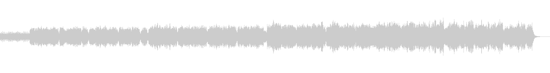 フルートとハープシコードの幻想曲の未再生の波形