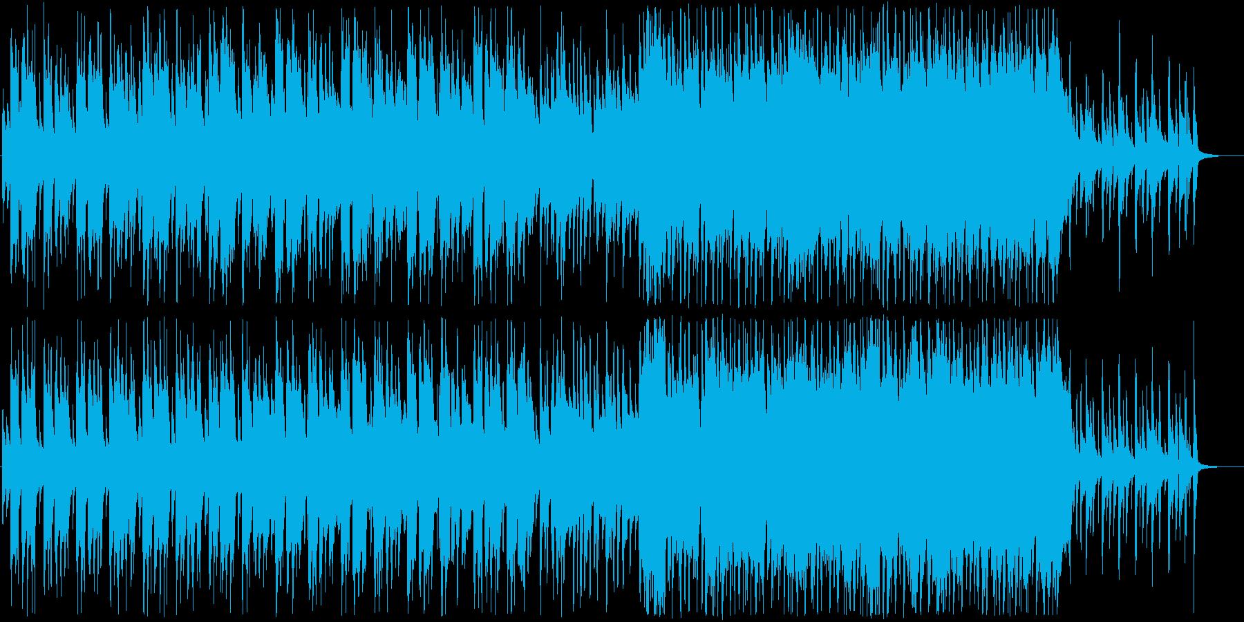 プロモーション動画などに使える軽やかな曲の再生済みの波形