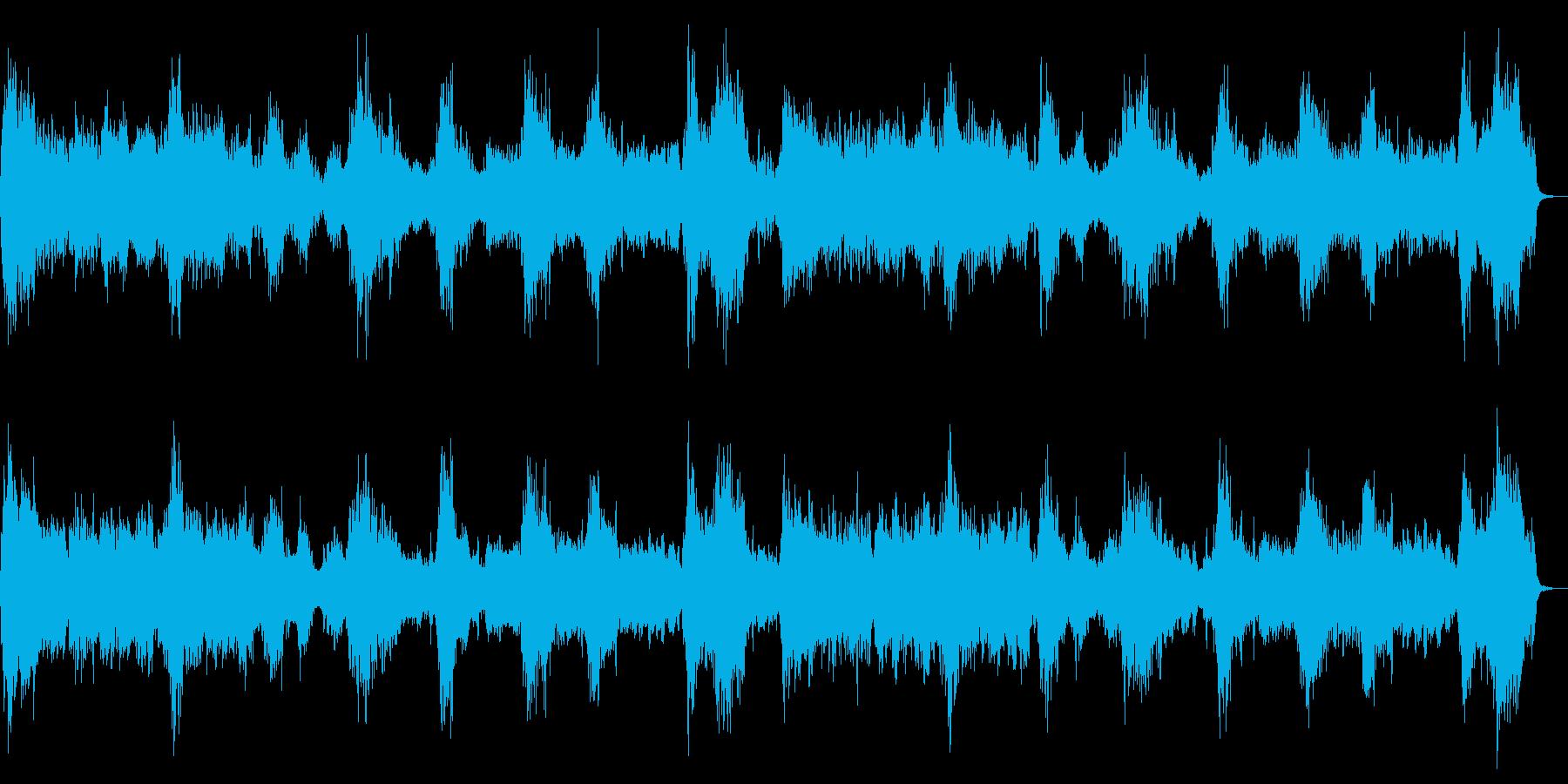 ダークなストリングス ピアノ 恐怖を演出の再生済みの波形