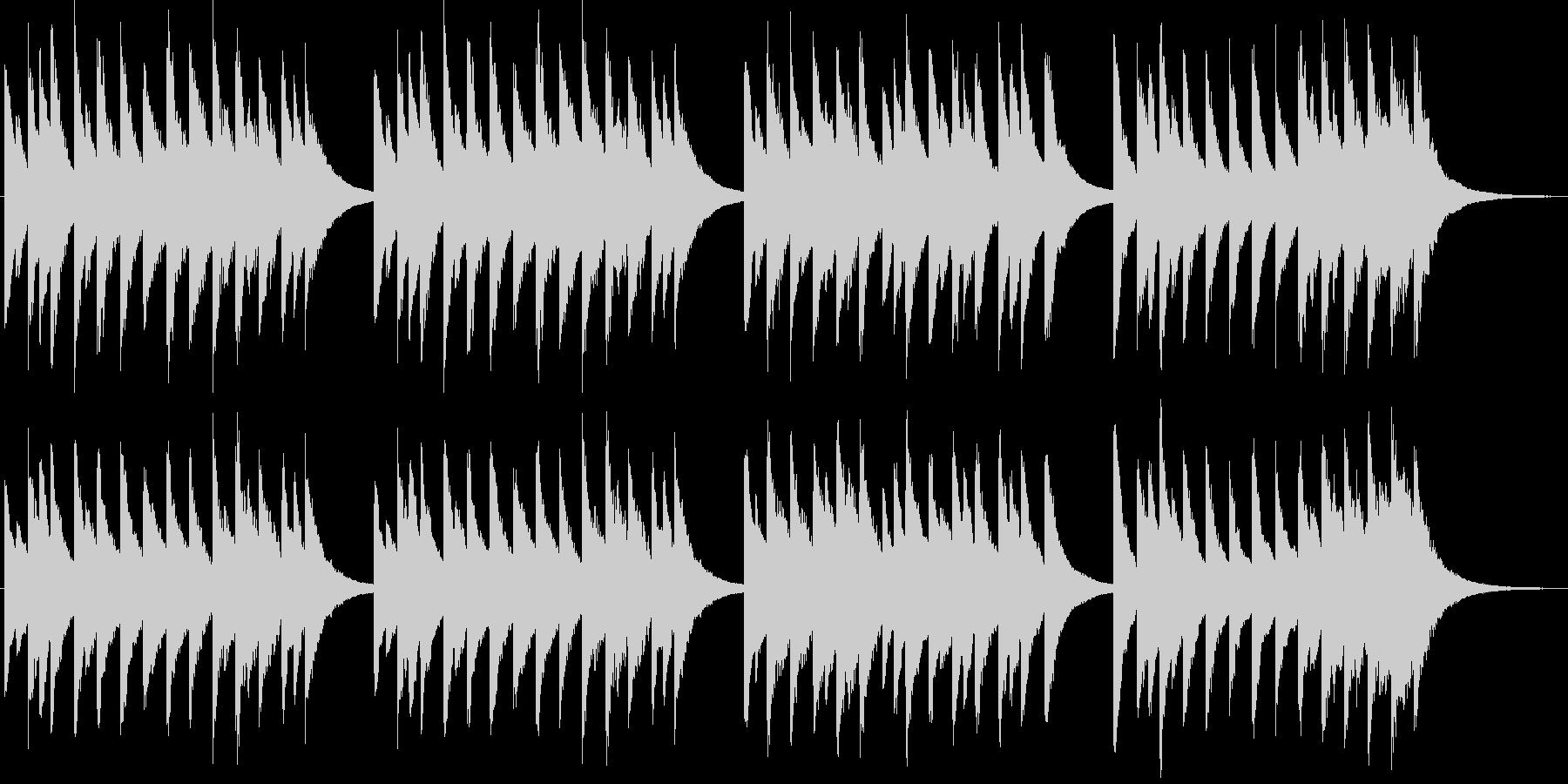 マタイ受難曲第二部コラールのオルゴールの未再生の波形