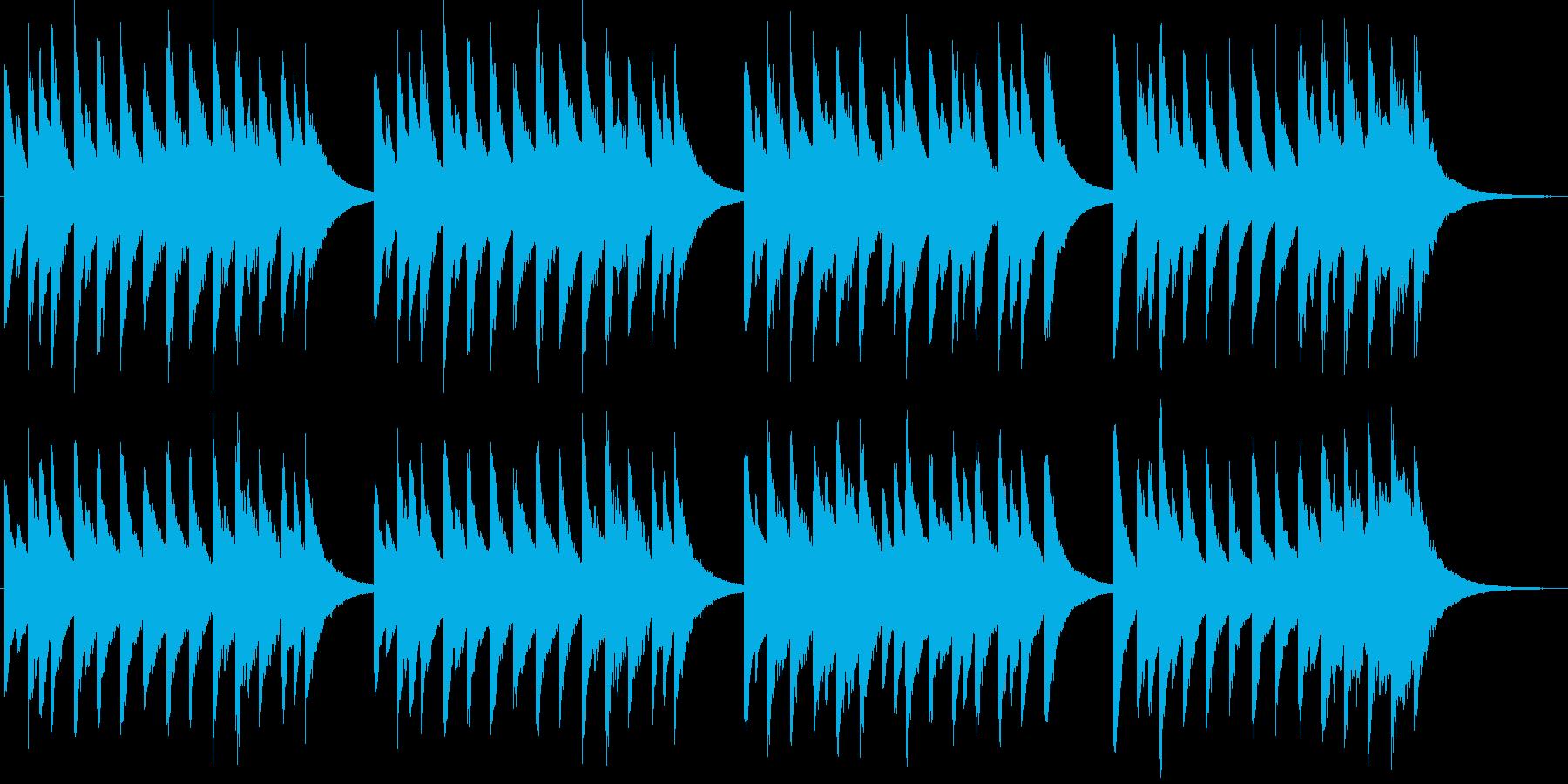 マタイ受難曲第二部コラールのオルゴールの再生済みの波形