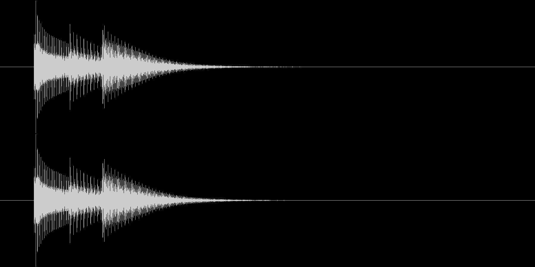 タララン♪(シンプルな選択音)の未再生の波形