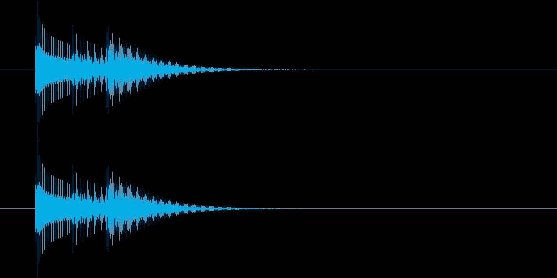 タララン♪(シンプルな選択音)の再生済みの波形