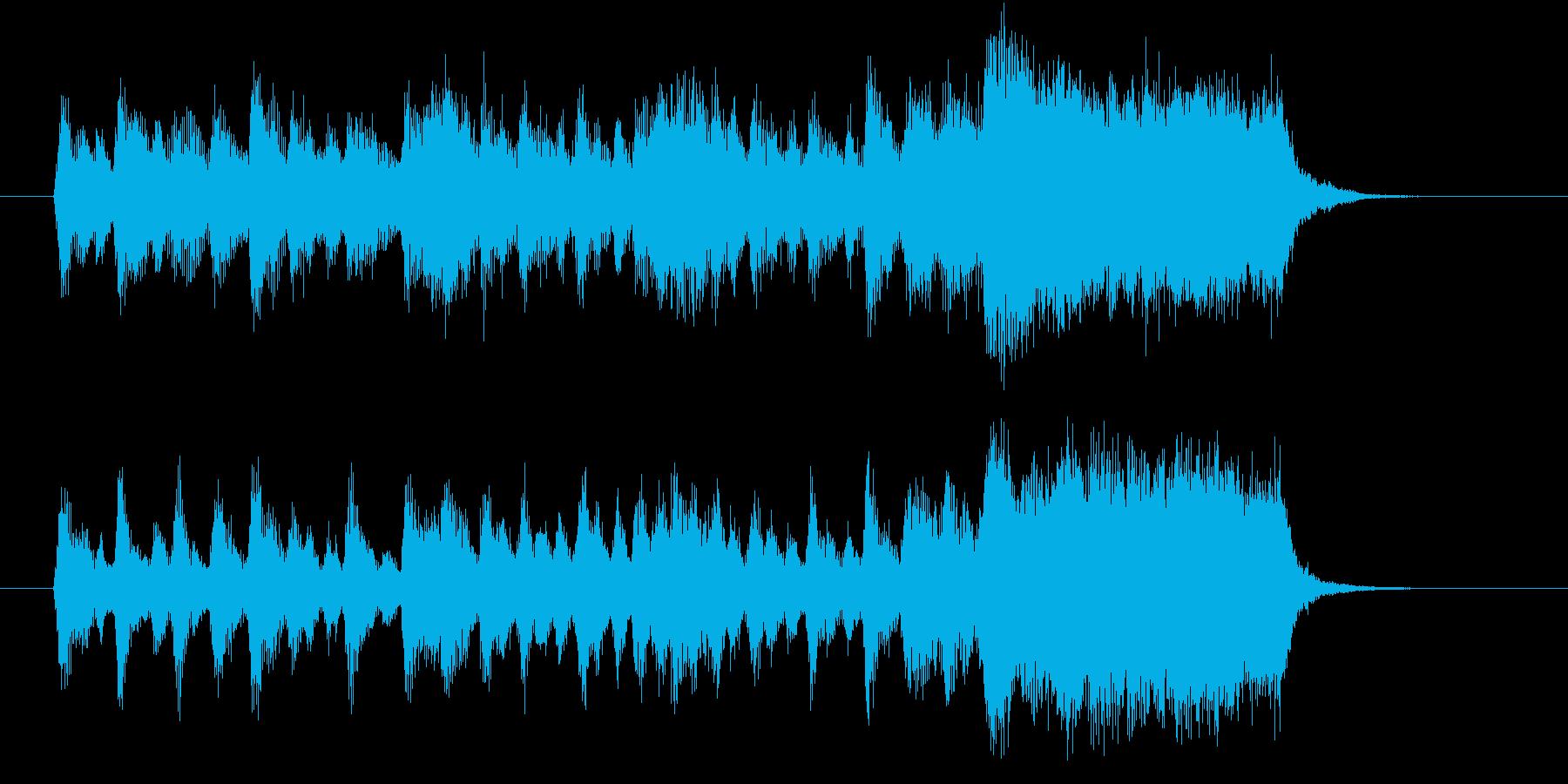 躍動感のあるカルテッドの再生済みの波形
