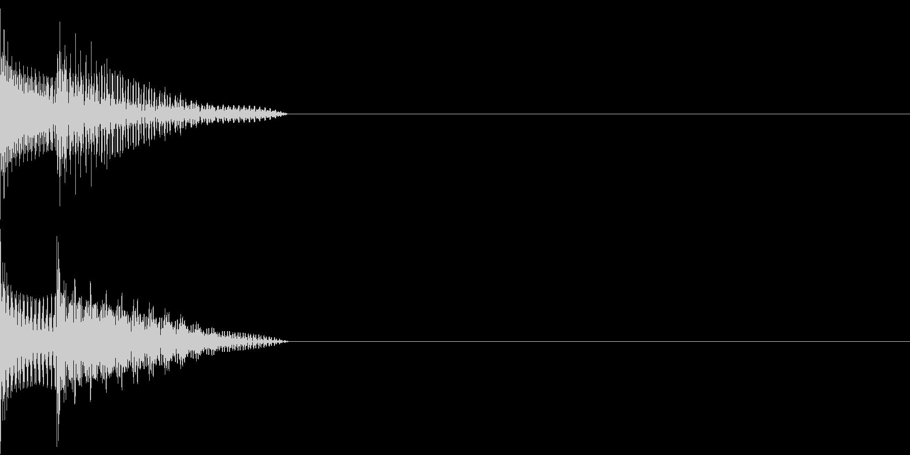 Cursor セレクト・カーソルの音3の未再生の波形