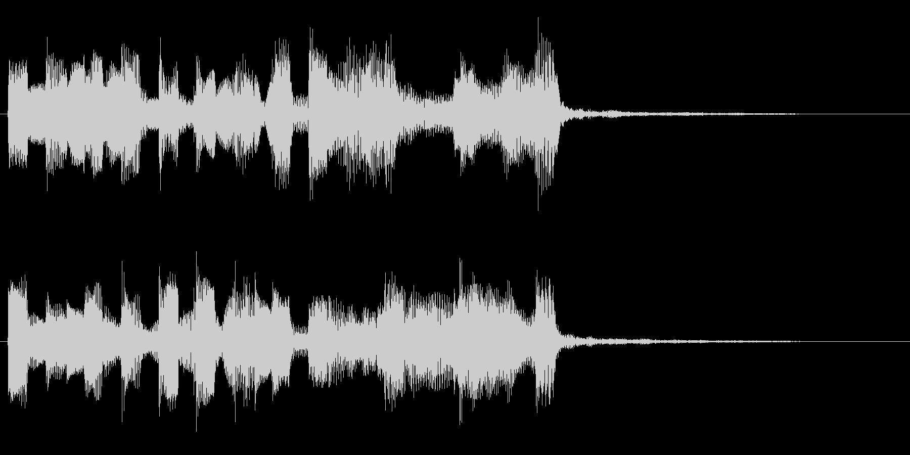 お茶目なエレピのキュートなジングルの未再生の波形