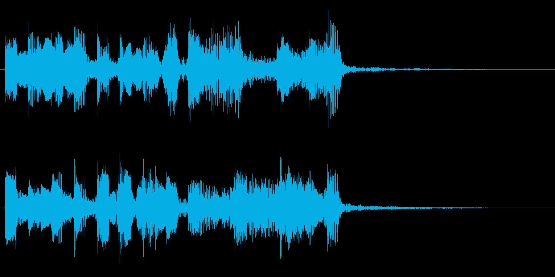 お茶目なエレピのキュートなジングルの再生済みの波形