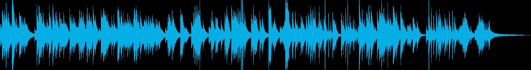 ジャズピアノの調べ、童謡「茶摘み」の再生済みの波形