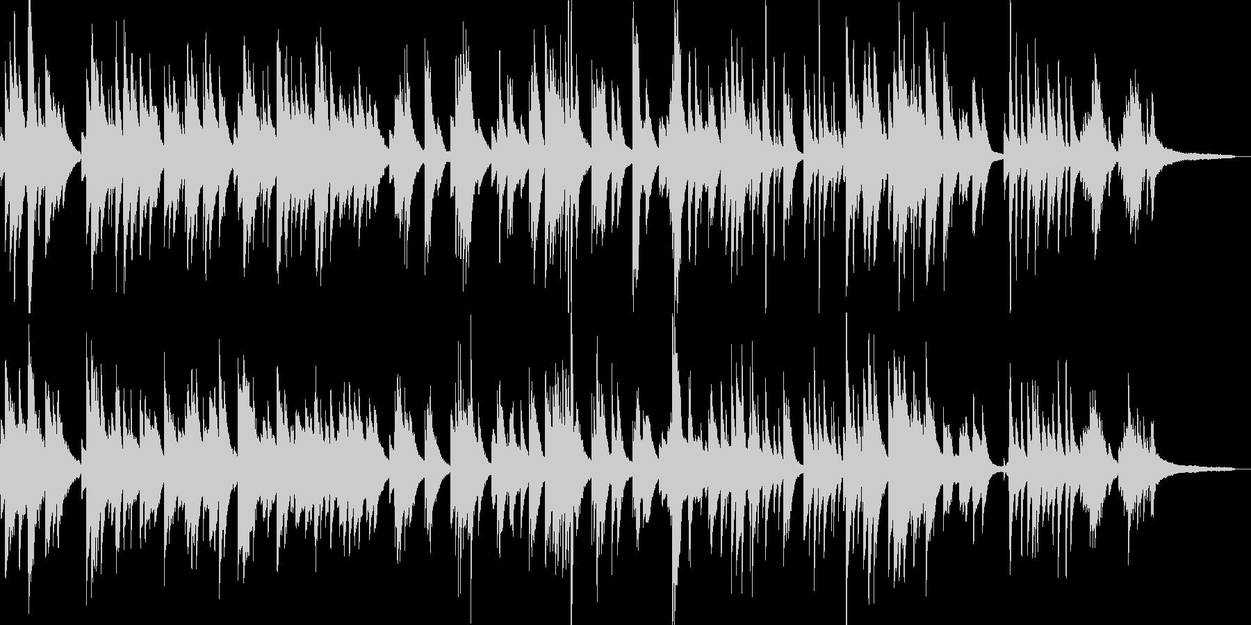 ジャズピアノの調べ、童謡「茶摘み」の未再生の波形