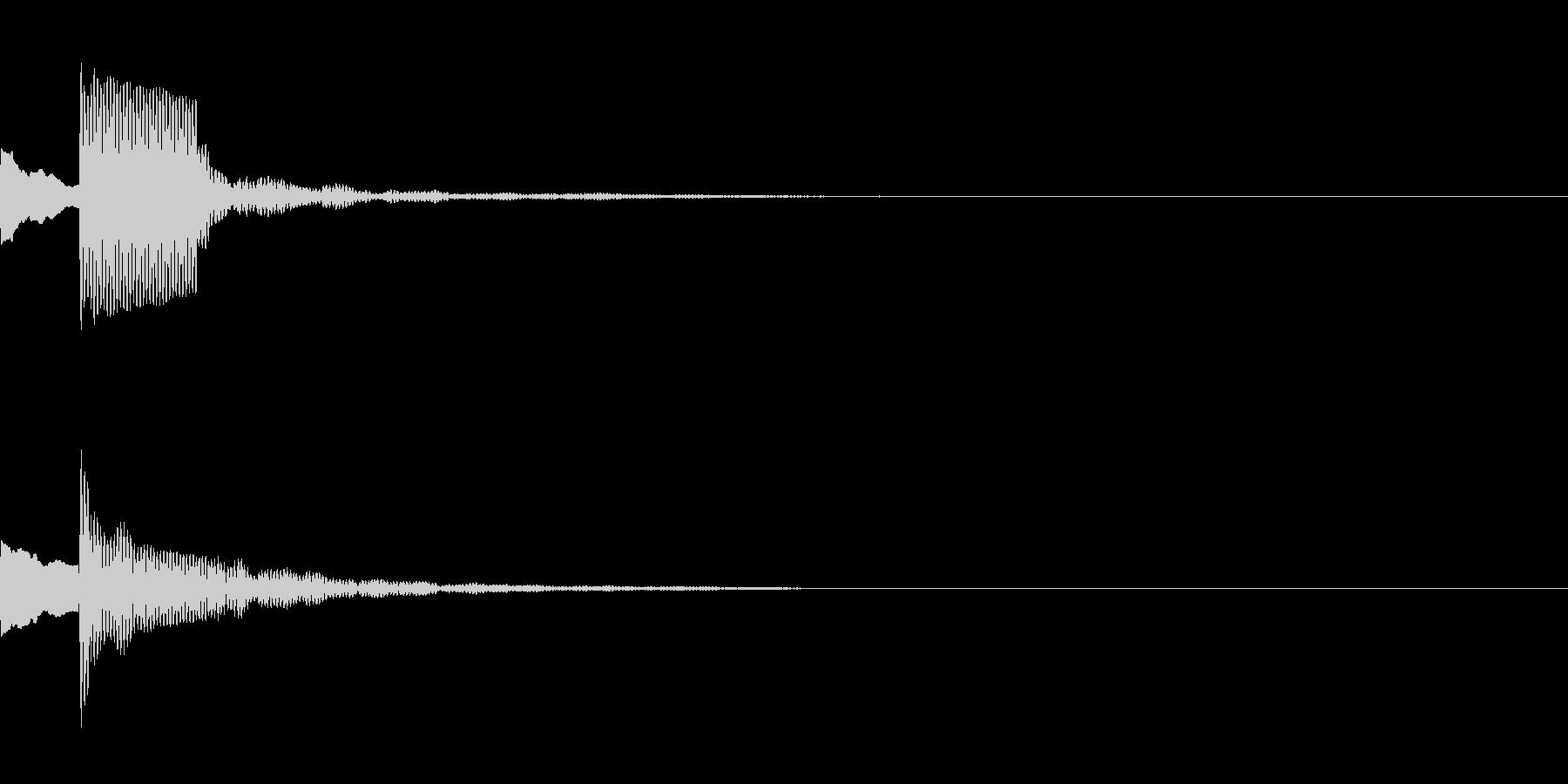 決定音43_シンセAEの未再生の波形