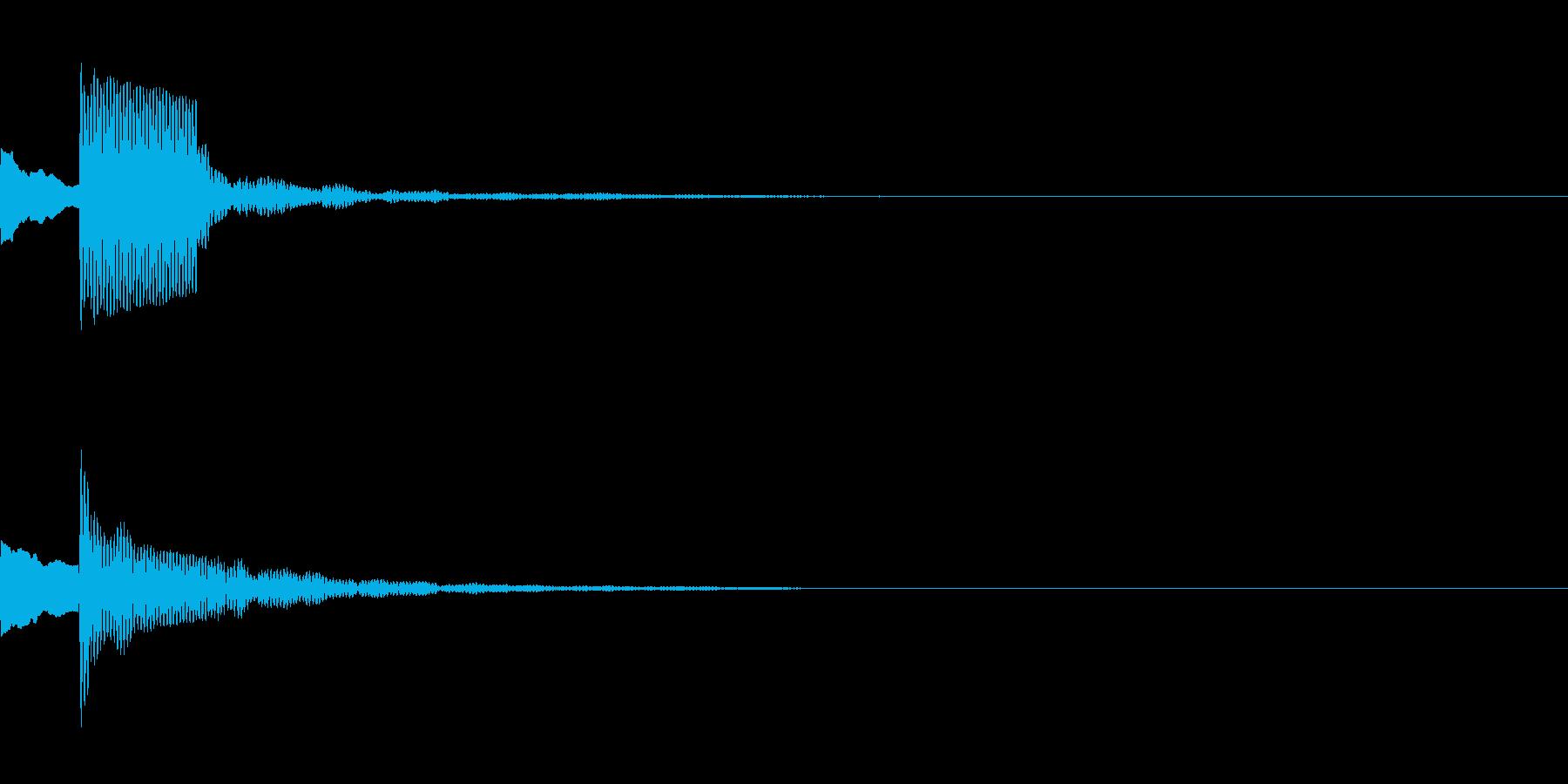 決定音43_シンセAEの再生済みの波形