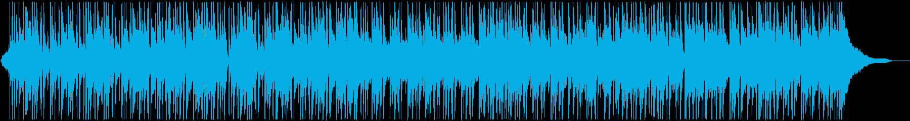 パーカッションの軽快なリズムが印象の楽曲の再生済みの波形