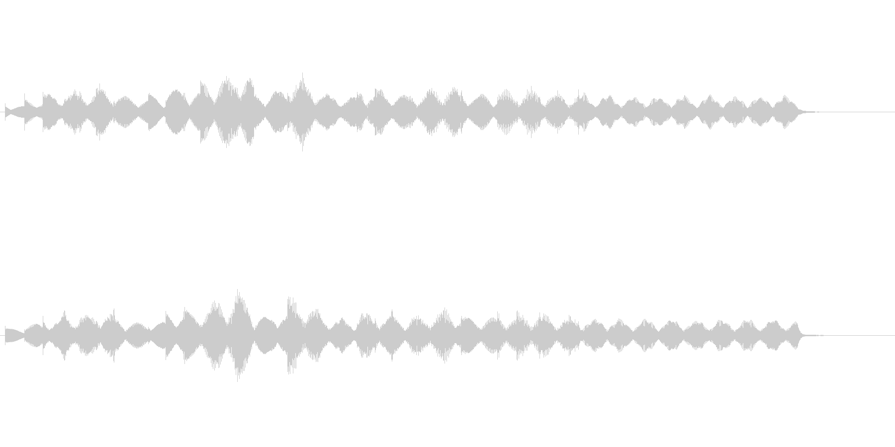 メロディックなエレピのジングルの未再生の波形