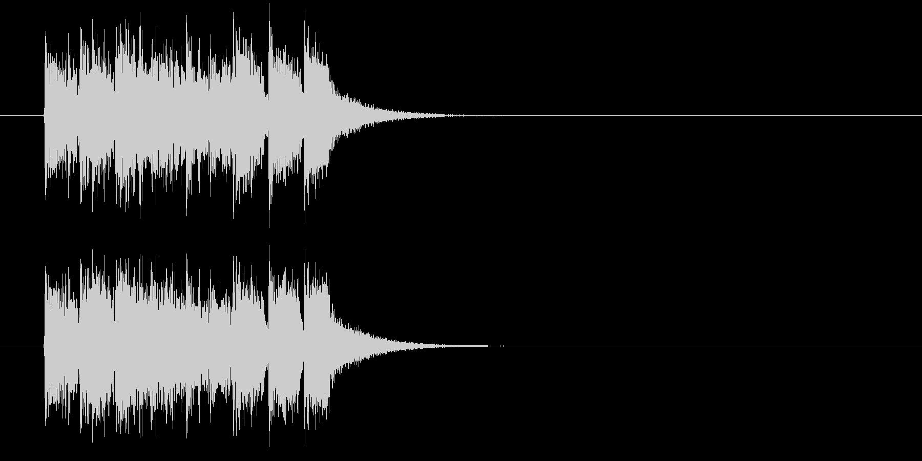 ジングル(正解はCMの後で)の未再生の波形