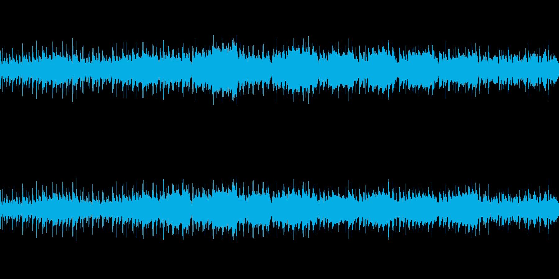 日常系アコースティック楽曲(ループ仕様)の再生済みの波形