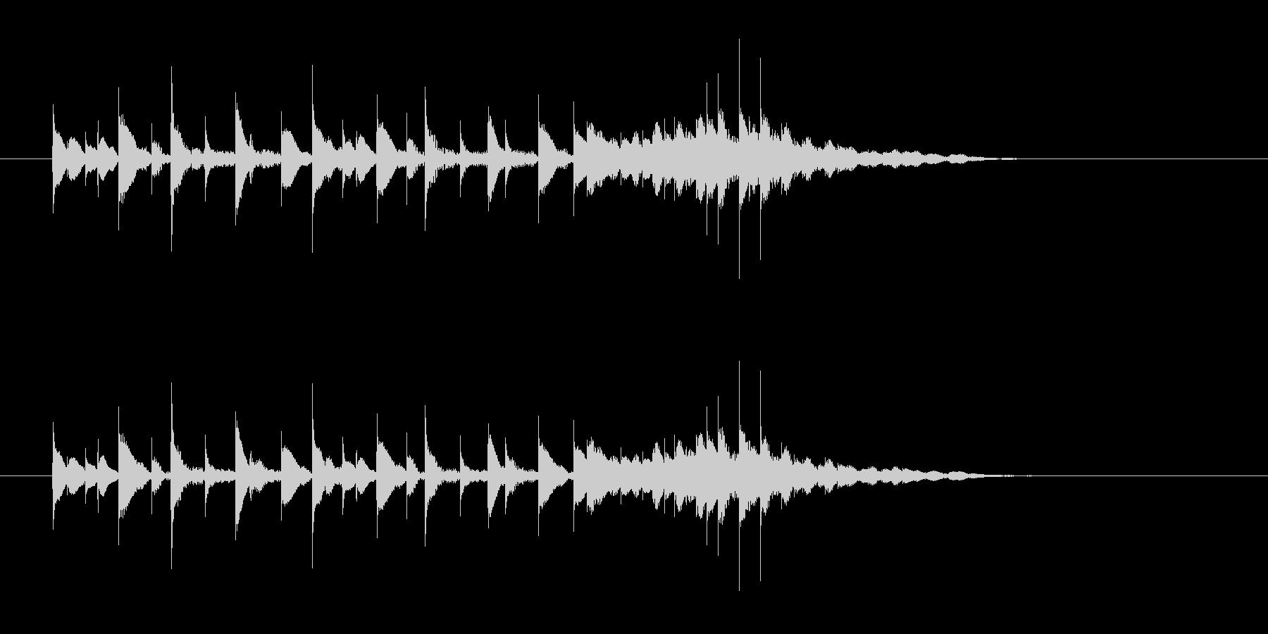 軽やか打楽器音(南国、トロピカル)の未再生の波形