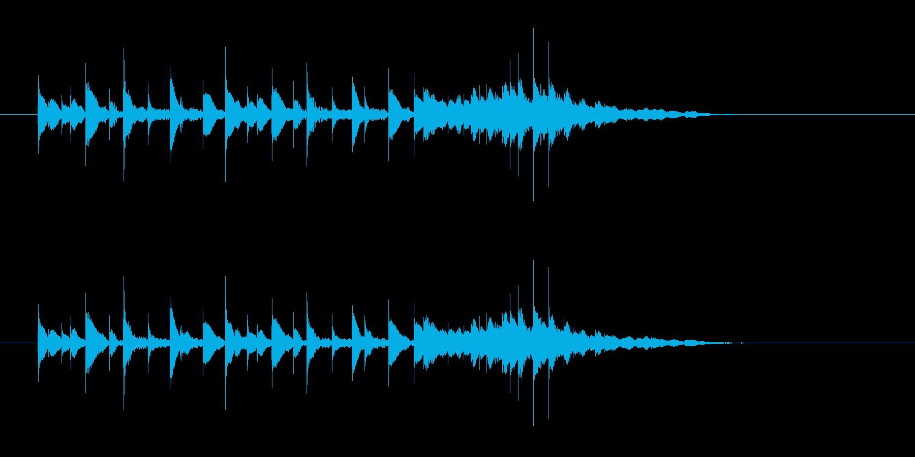 軽やか打楽器音(南国、トロピカル)の再生済みの波形