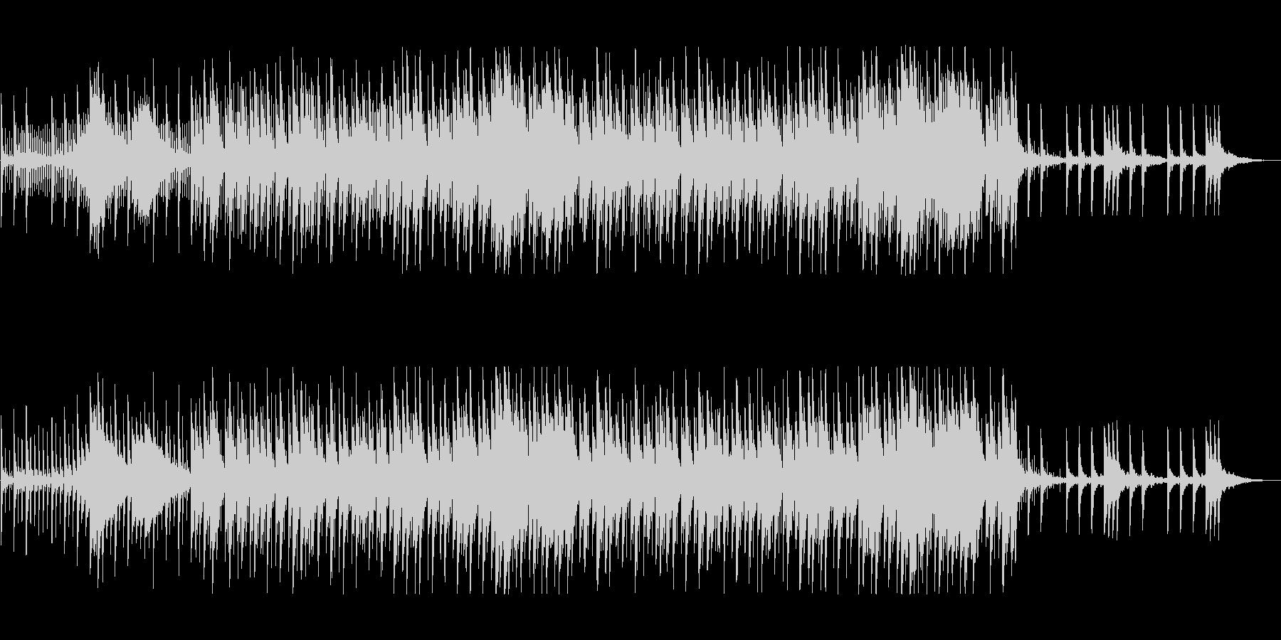 優しいリズム感のあるポップスの未再生の波形