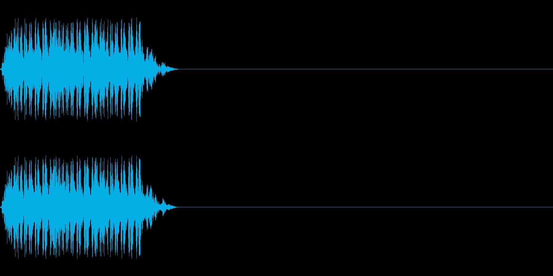 【レーザー01-3】の再生済みの波形