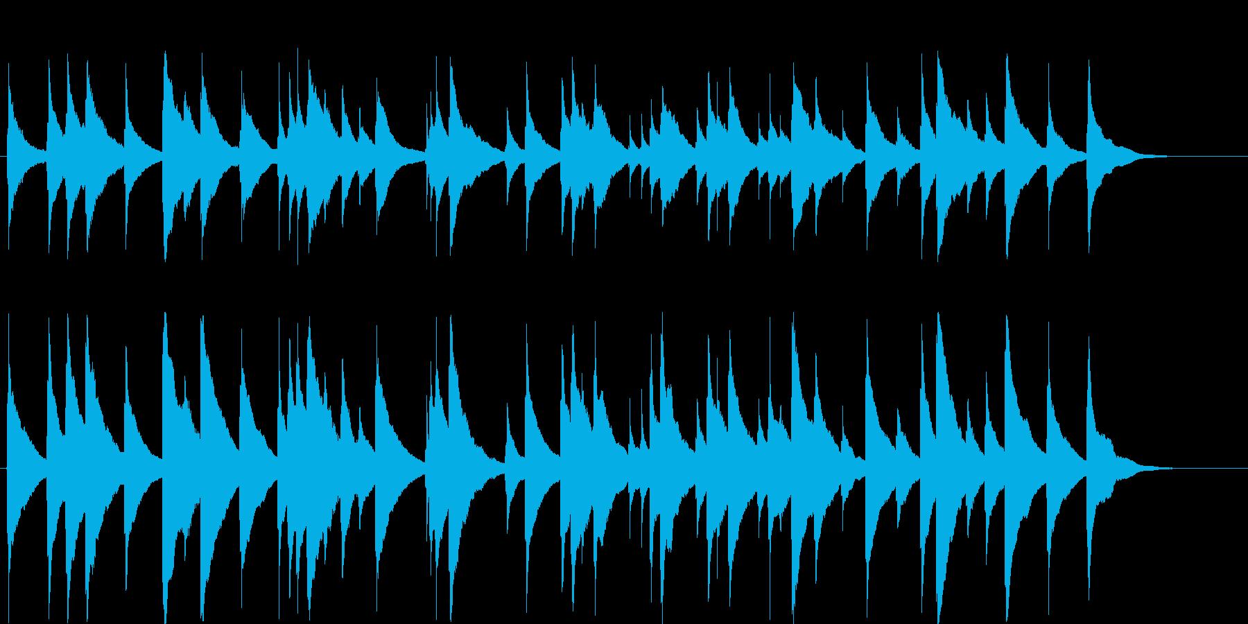 オルゴール楽曲です。24bit,48k…の再生済みの波形