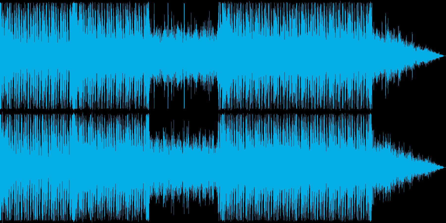 ストリングスが禍々しい戦闘、ホラー曲の再生済みの波形