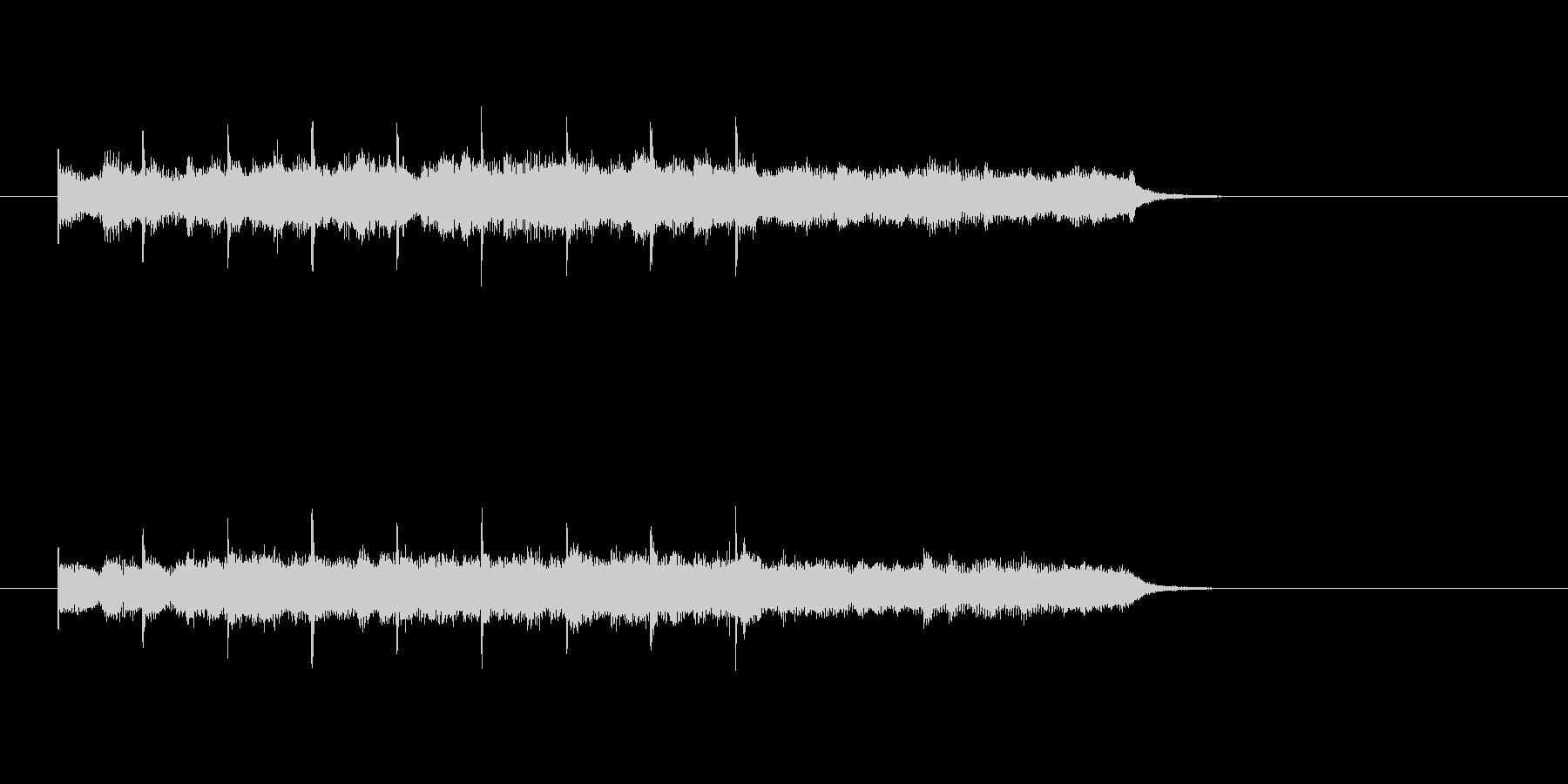 ピアノ ロマンチック シンセサイザーの未再生の波形
