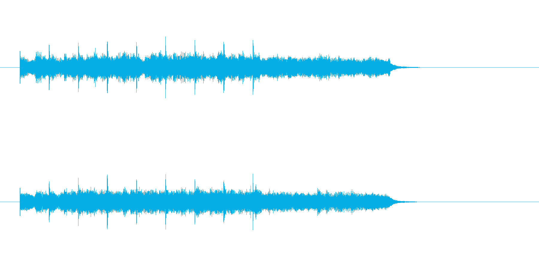 ピアノ ロマンチック シンセサイザーの再生済みの波形